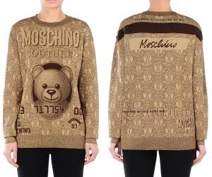 WIT164-Jersey-de-punto-tarjeta-Moschino