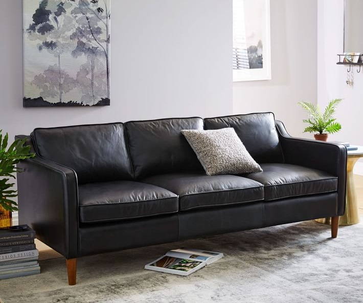 Hamilton Black Leather Sofa What Is